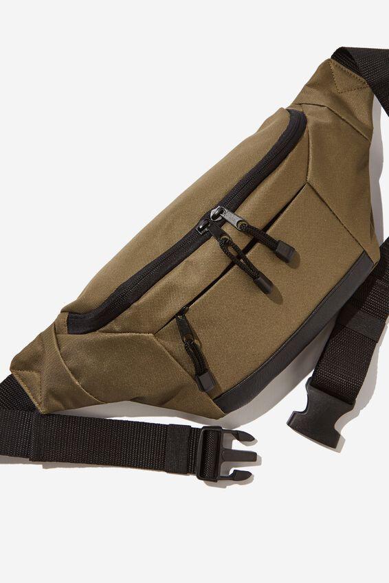 Square Sling Bag, KHAKI