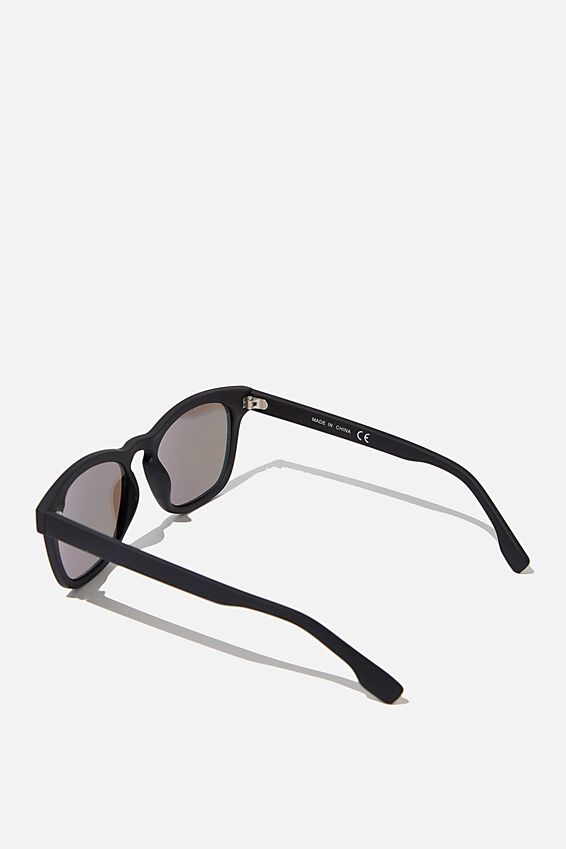 Waymax Sunglasses, BLK RUB_BLUE REVO