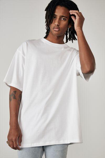 Basic Relaxed T Shirt, WHITE