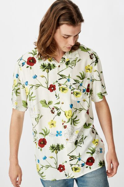 Resort Shirt, FLORAL WEB