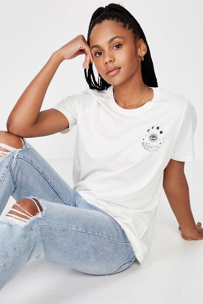 Relaxed Graphic T Shirt, WASHED WHITE/TAROT