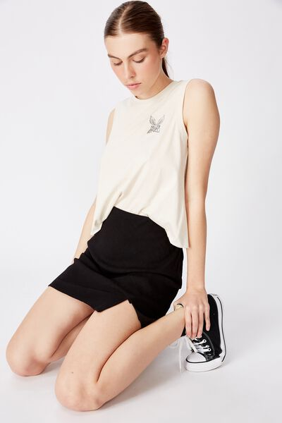Graphic Tank, WASHED IVORY/FALLEN ANGELS