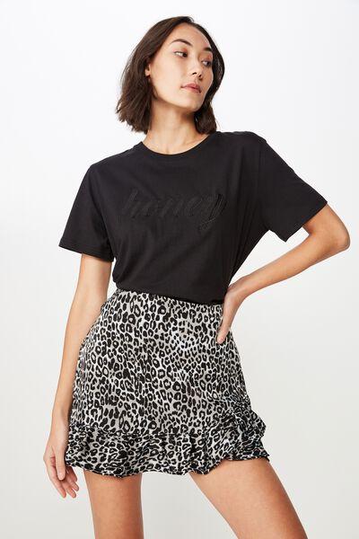 23ab299804a Satin Ruffle Skirt