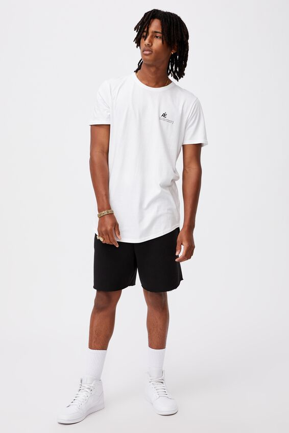 Curved Graphic T Shirt, WHITE/ALTERED EXPERIANCE