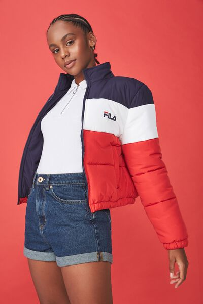 Fila Lcn Puffer Jacket, EVENING BLUE/LYCHEE/WHITE
