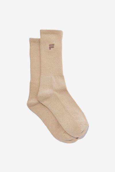 License Retro Rib Socks, BEIGE/FILA