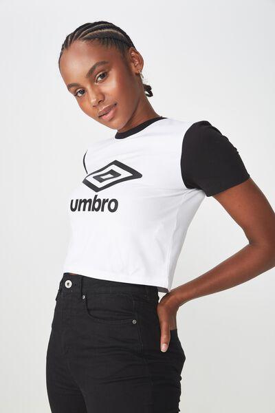 Umbro Lcn Fitted T Shirt, WHITE