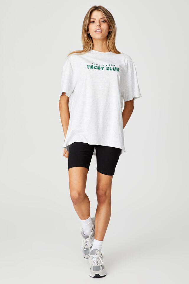Super Relaxed Graphic Tee, SILVER MARLE/YACHT CLUB