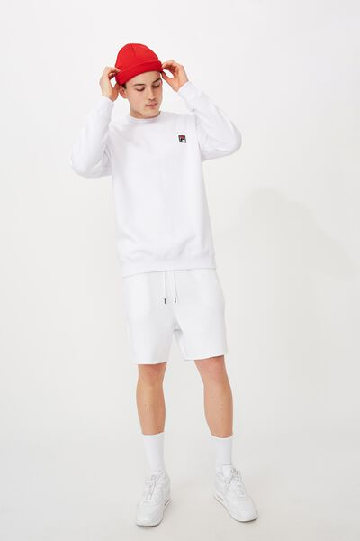 Fila Lcn Oversized Crew, WHITE/FILA ICON