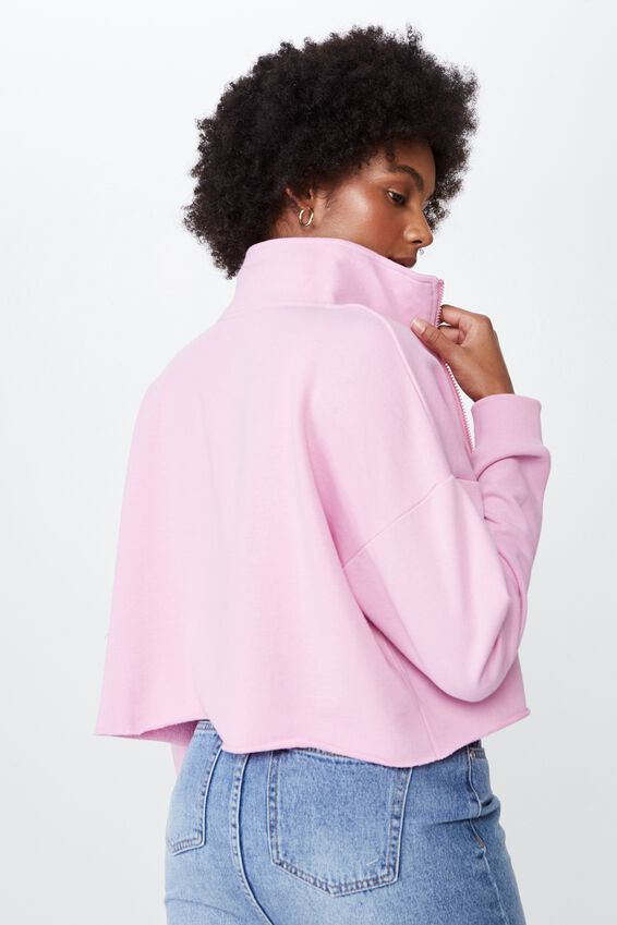 Boxy Zip Thru Jacket, ORCHID