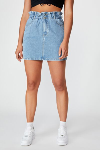 Paperbag Skirt, 90's BLUE