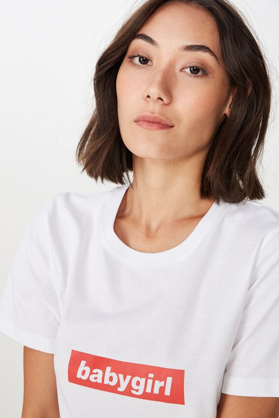 Relaxed Graphic T Shirt, WHITE_BABY GIRL