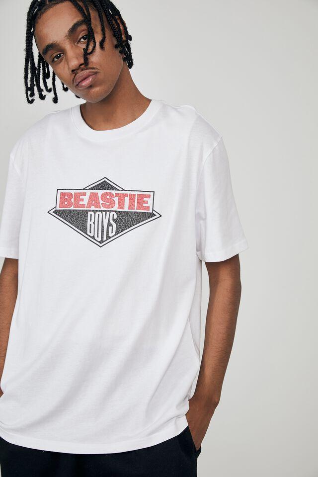 Regular Music Merch T Shirt, LCN BRA WHITE/BEASTIE BOYS