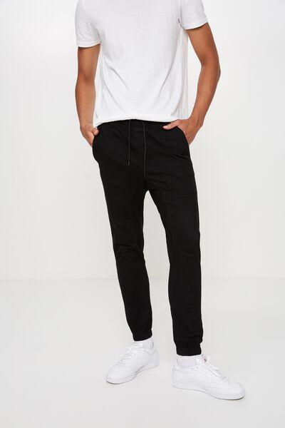 Cuffed Pant, BLACK
