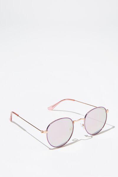 Splendour Round Sunglasses, S.R'GLD_PINK