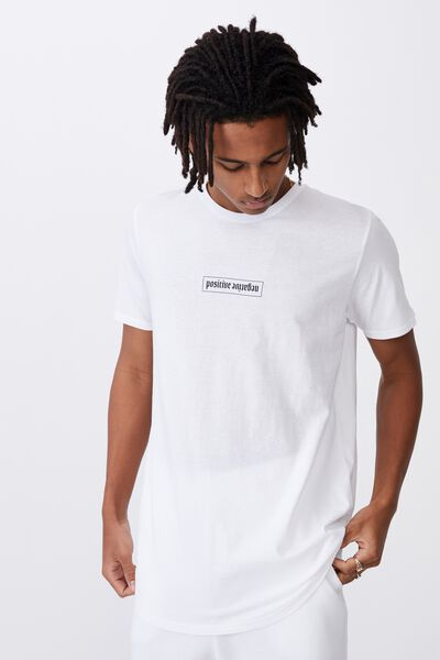Curved Graphic T Shirt, WHITE/POSITIVE NEGATIVE