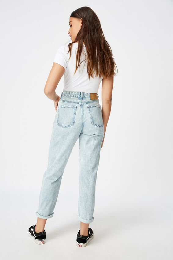 Tapered Mom Jean, SKY BLUE