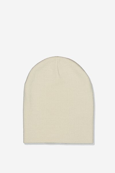 Ribbed Beanie, CREAM