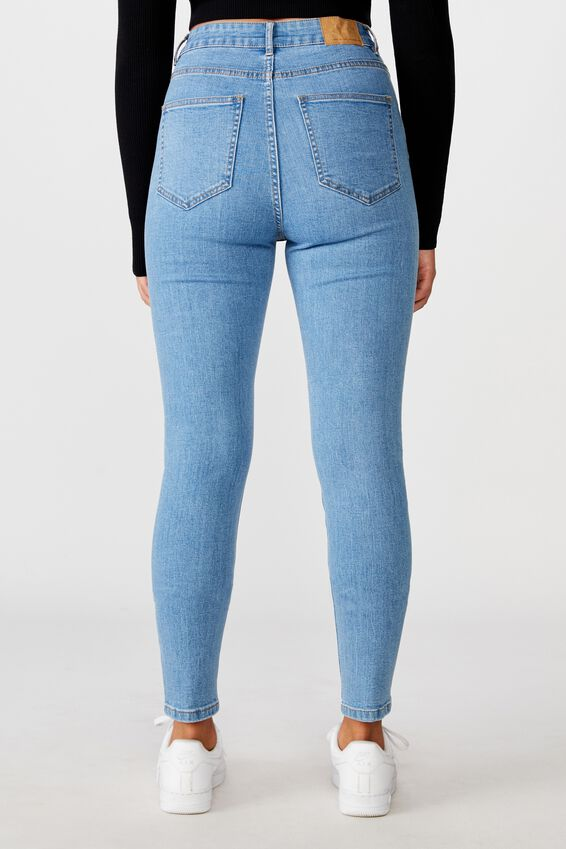 The Skinny High Rise Jean, 90's BLUE