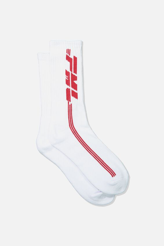 Retro Ribbed Socks, MY LIFE_WHITE