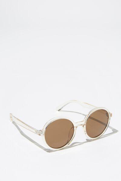 Millenium Round Sunglasses, WHITE/SAND TINT