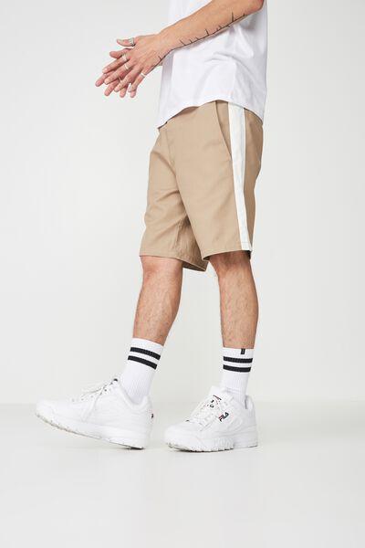 Side Stripe Work Short, WHEAT/WHITE