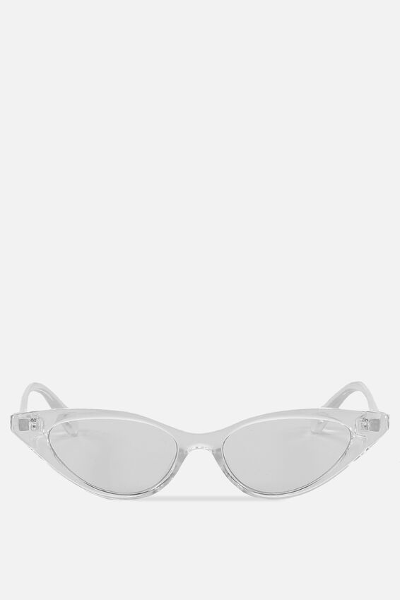Splendour Cateye Sunglasses, S CRY_CLEAR