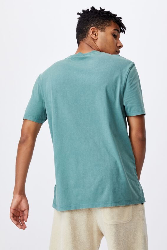 Relaxed Washed T Shirt, WASHED PINE TEAL/MISSOURI