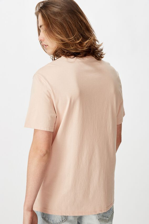 Regular Graphic T Shirt, SANDY PEACH/WORLD ORDER