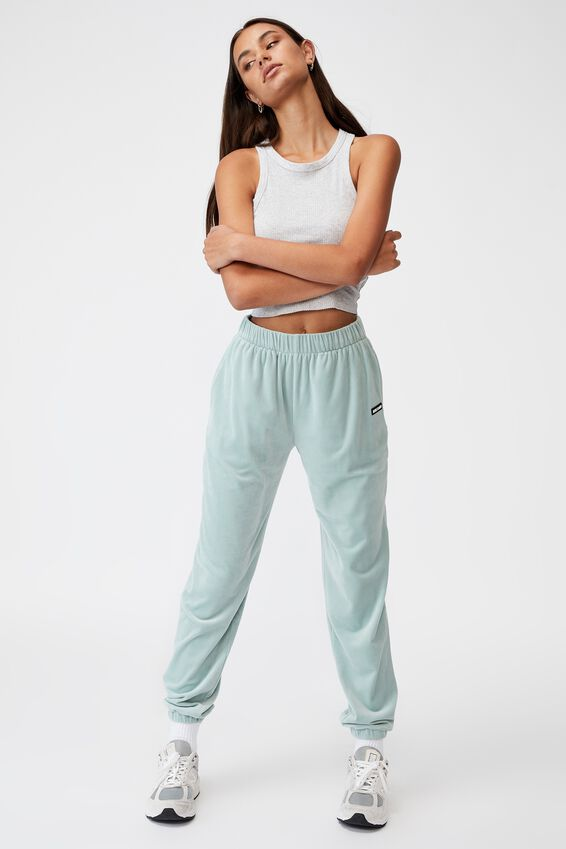 Velour Classic Trackpant, ETHER