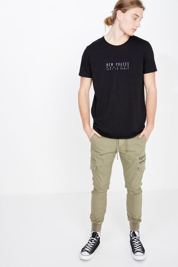 Curved Graphic T Shirt, BLACK/NEW PHASES