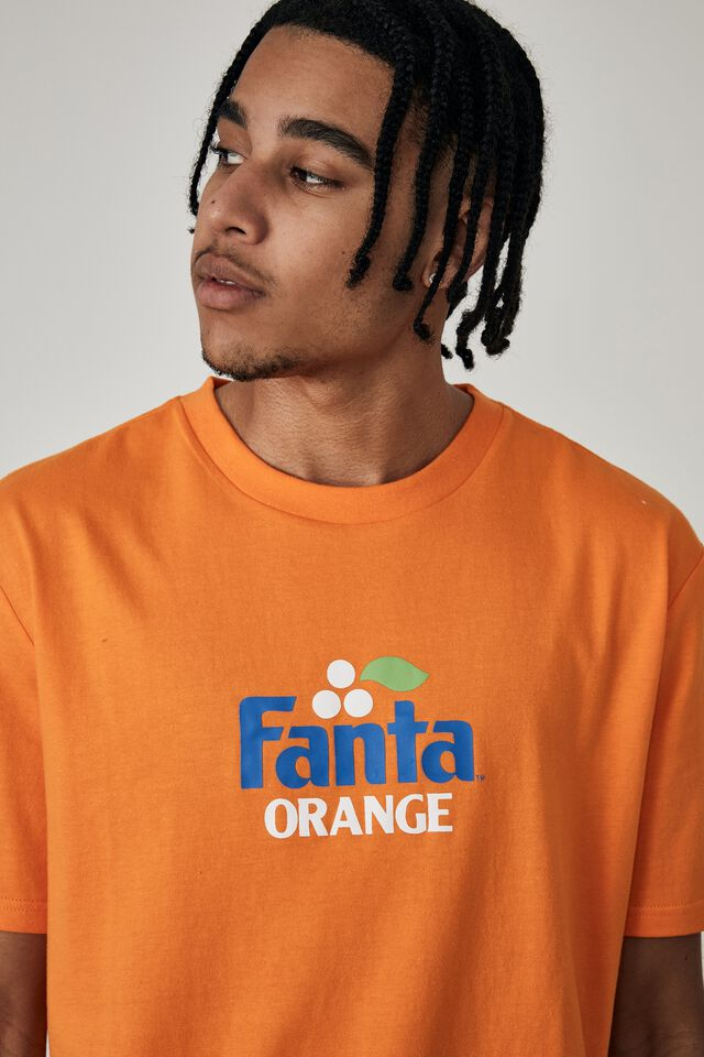 Regular Pop Culture T Shirt, LCN COK ORANGE/FANTA