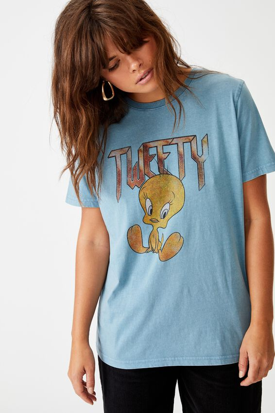 Lcn Relaxed Graphic T Shirt, PETROL BLUE/TWEETY