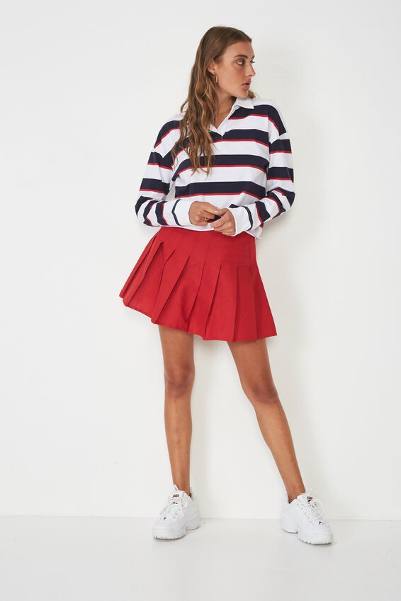 Pleated Skirt, LYCHEE
