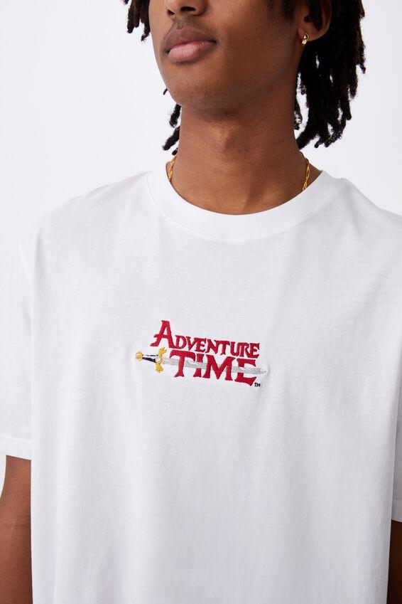 Regular License T Shirt, LCN CAR WHITE/ADVENTURE TIME