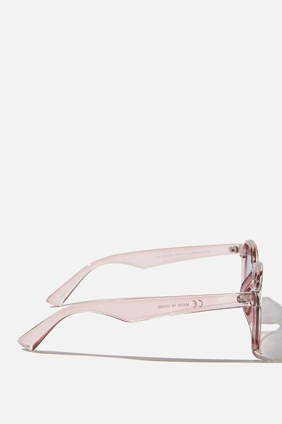 Millenium Preppy Sunglasses, CLEAR DUSTY PINK