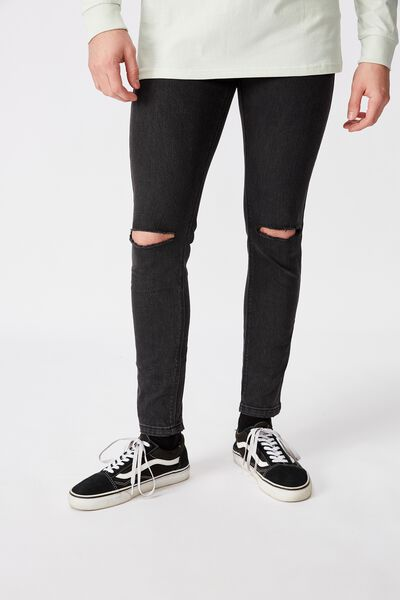Super Skinny Jean, WASHED BLACK