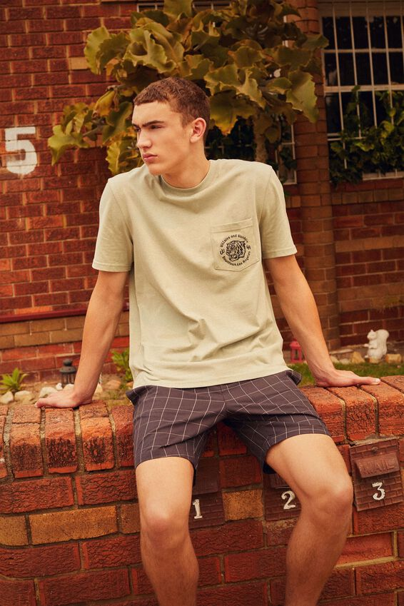 Regular Graphic Pocket T Shirt, FERN/VILLAINS AND VANDALS