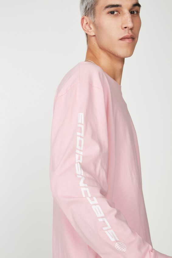 Ls Pocket T Shirt, PINK/SUBCONSCIOUS