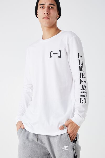 Ls Amped Tall Tee, WHITE/SUBTRACT