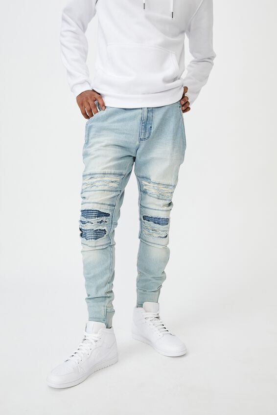 Semi Cuffed Denim Jean, CLOUD BLUE DIST