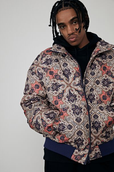 Compton Puffer Jacket, TURKISH TILE