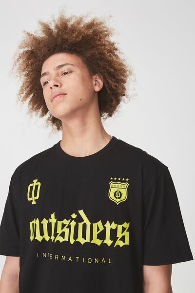Ss Graphic T Shirt, BLACK/OUTSIDERS