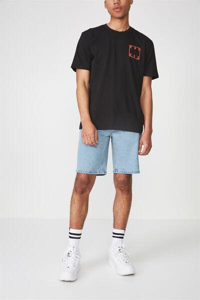 Wide Leg Denim Short, PALE BLUE