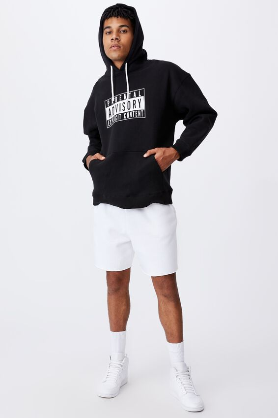 Oversized Pop Culture Hoodie, LCN PAD BLACK/PARENTAL ADVISORY