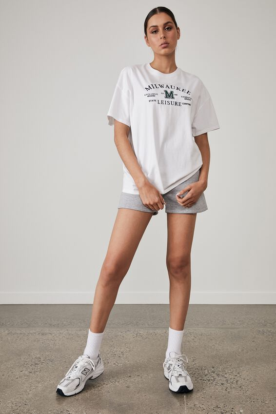 Super Relaxed Graphic Tee, WHITE/MILWAUKEE