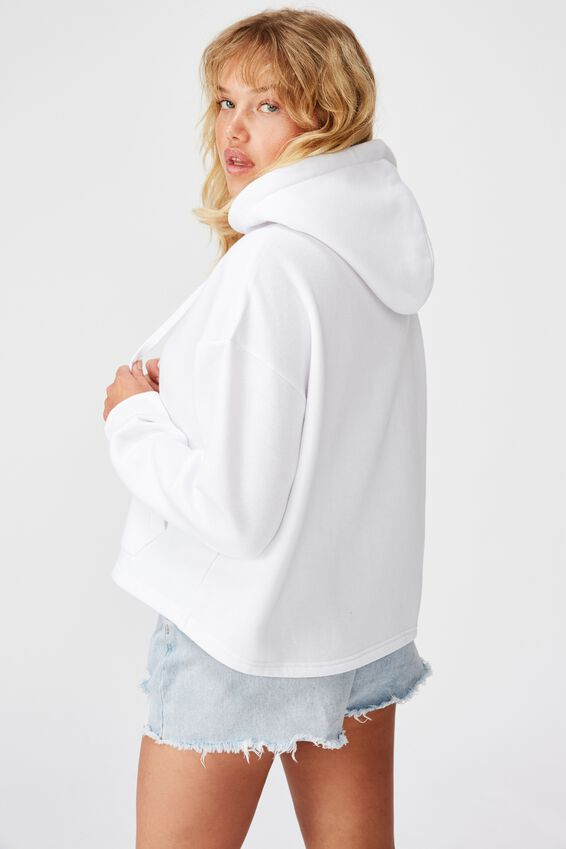 Relaxed Hoodie, WHITE