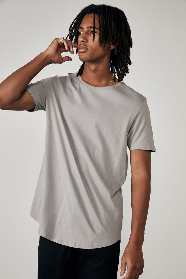 Curved T Shirt, STEEL