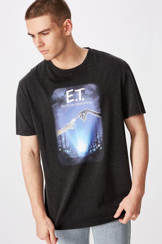 Regular License T Shirt, WASHED BLACK/ET