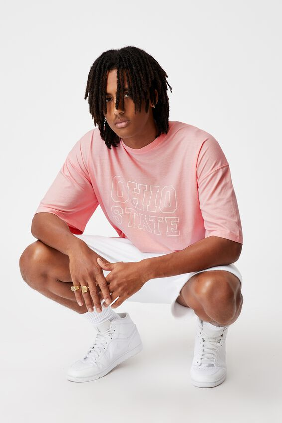 Relaxed Washed T Shirt, WASHED SOFT PINK/OHIO